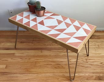 Boho Modern Talavera Coffee Table