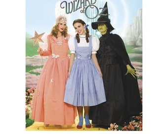 Sewing Pattern Womens Wizard of Oz Costume, Halloween Costume, Simplicity Pattern 4136, Dorothy, Wicked Witch, Glinda the Good Witch