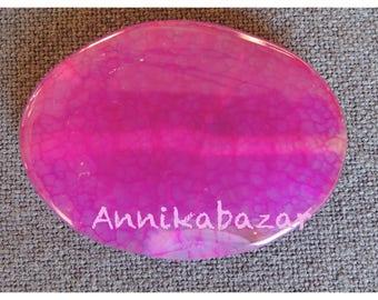 Large fuchsia agate stone