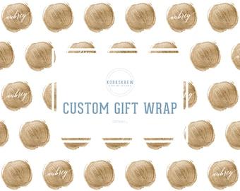 Custom Golden Dot Gift Wrapping Paper