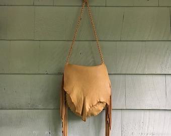 Del Sol Fringe Leather Purse