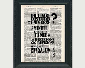 do i dare disturb the universe essay danielle garrison professor harding english 117w 1 december 2014 disturbing the universe do i dare disturb the universe was a question that jerry renault consistently asked himself throughout the book called the chocolate war written by robert cormier.