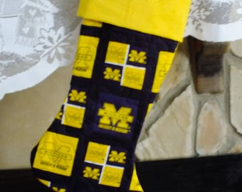 Christmas Stocking  University of Michigan Yellow Cuff Must Have!