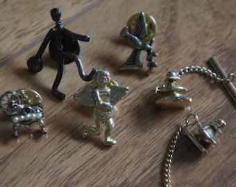 Vintage Jewelry Brooch Pin Icon Badge  Angel Bird Man   X-015