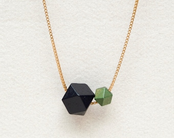 Polyhedron Wood Beads Necklace