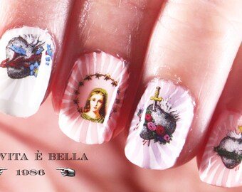 Nail Decals: Sacred Heart Water Nail Decals