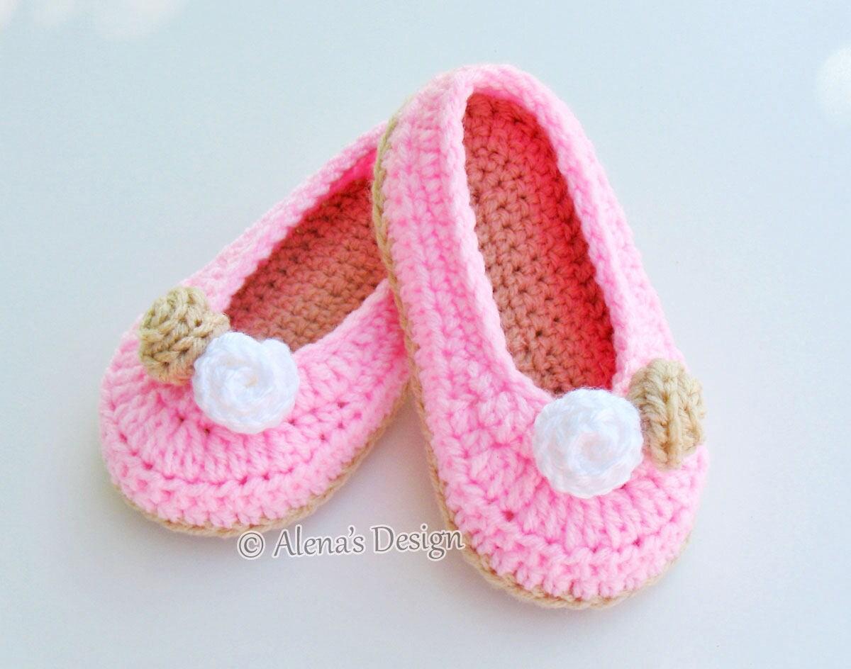 Crochet Pattern 109 - Crochet Slipper Pattern for Toddler Rose ...