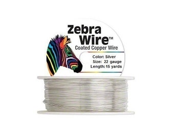 28 Gauge Silver Color Coated Copper Wrap Craft Jewelry Wire 40 Yards