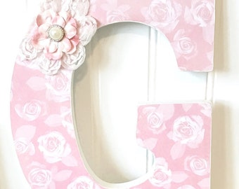 Custom Wooden Nursery Letters- Personalized Name- Baby Name- Girl Room Decor -Painted Wall Hanging Art- The Rugged Pearl