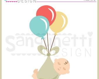 Baby clipart, baby shower clipart, newborn clipart,  baby clip art, JPG, PNG, commercial use, Instant download