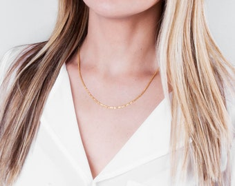 Gold Chain Necklace, Gold Sparkly Necklace, Thin Necklace Chain, Delicate Gold Necklace, Minimalist Necklace, Long Necklace, Shiny Chain