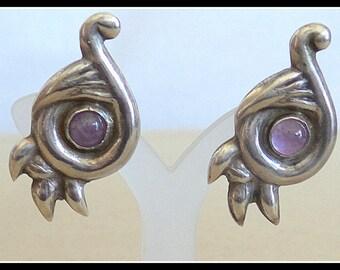 Sterling Mexican Earrings ScrewBacks