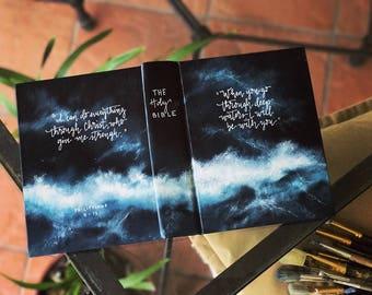 Landscape Painted Bible // Ocean 'Deep Waters'