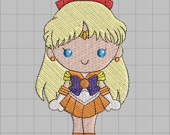 Sailor Venus Machine Embroidery Design 4x4