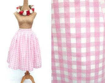 "Lola Skirt ""Soda Fountain Pink"" Pink Gingham"