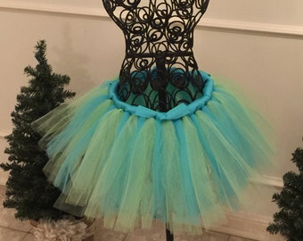 Turquoise and Lime Green Tutu