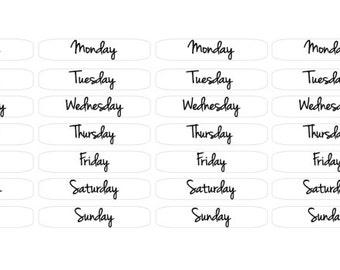 monday through friday planner
