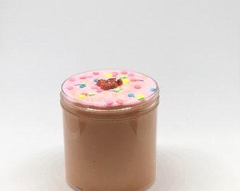 chocolate sprinkled donut slime