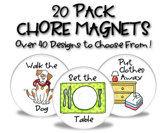 Chore Magnets - 20 Pack