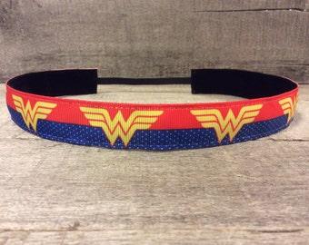 Wonder Woman Nonslip Headband, Noslip Headband, Workout Headband, Sports Headband, Running Headband, Athletic Headband