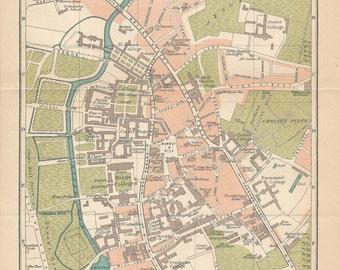 1920 Cambridge United Kingdom (Great Britain) Vintage map