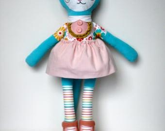 Rainbow Flower Katy Kitty
