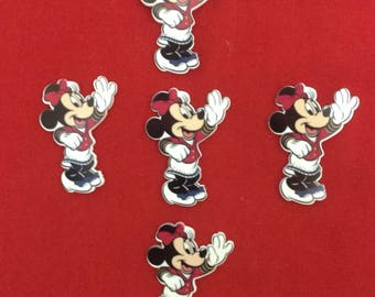 Set of 5 Minnie Mouse Cruise Resin