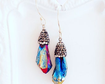 Boho Statement Earrings - Agate Earrings - Festival Jewelry - MAGIC Earrings - Enchanted Dreams Collection