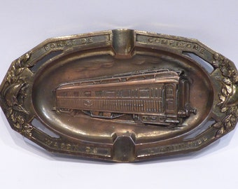 Ashtray Souvenir / commemorative Wagon 1918 Armistice