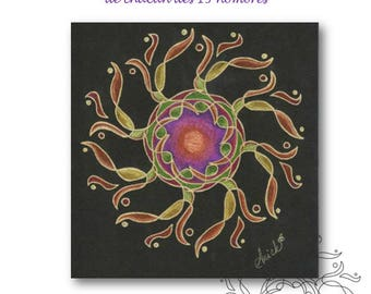 I am cards... 13 flower of life essential (opposite sides)