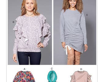 McCall's Pattern M7688 Misses' Knit Tops and Dresses