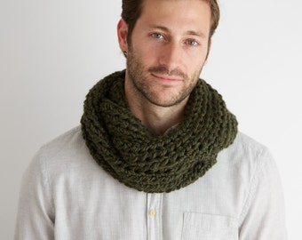 Olive Green Everyday Circle Scarf
