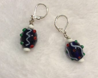 Reduced price Vintage  Glass bead earrings.  Hippy beads. Purchased in the 70s