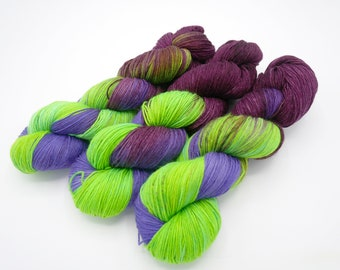 Dark Envy, Lovely Hand Dyed Sock Yarn - In Stock