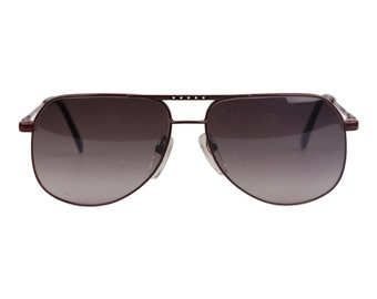 Authentic NIKON Vintage Brown Sunglasses Nikonflex NK4415 Frame Japan 58-14 Nos