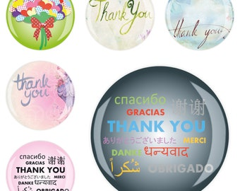 6 Set 6erMB66604 Fridge magnet Magnet Memo Magnetic Board Whiteboard Office Thank you thank you 4 cm diameter, strong sticky Jay button