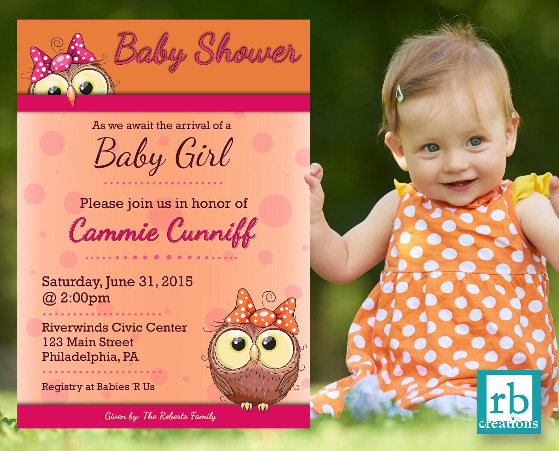 Owl Baby Shower Invitation, Baby Shower Invites, Baby Shower ...
