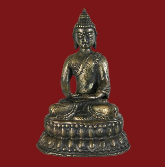 Buddha bronze statue, Nepal, 20th c
