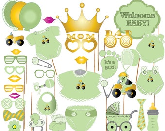 """Baby Shower Photo Booth Props: """"BOY BABY SHOWER"""" It's A Boyl Booth Props,Team Pink,Printable Party Props,Baby Shower Photobooth Props"""
