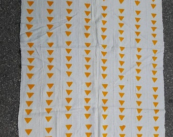 White and mustard Mudcloth