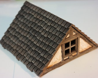 Alternate Roof/Attic Piece - compatble with Dwarves Forge/City Build System