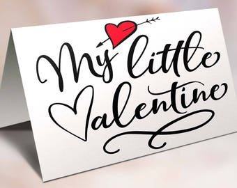 My Little Valentine, Kids Valentines Card, Child, To my son, For My Daughter
