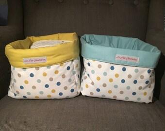 Set of 2 baskets fabric large size
