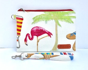 50% off Sunny Islands CellPhone Wristlet fits iPhone 10, X, 8, 7, 6 Plus Samsung Galaxy S8 plus Card Holders Zip Closure