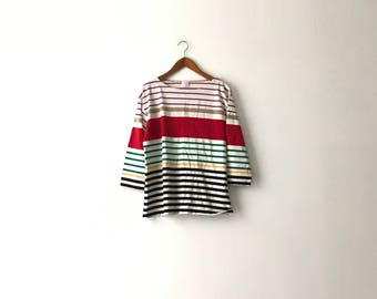 Colorblock Striped Shirt - M