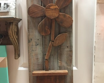 Wood flower decor