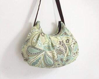 Pleated Bag // Shoulder Purse - Uninhibited Beachglass