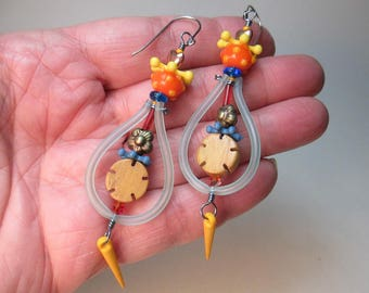 Hoopie Helecopter Earrings by Patti Cahill