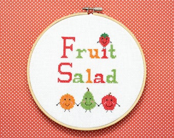 Fruit Salad Cross Stitch Pattern Instant Download PDF
