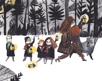 Harry Potter in the Forbidden Forrest